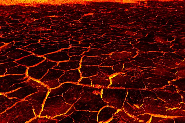 the lava. background