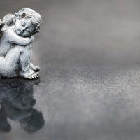 術・天使Kleiner Engel als Hintergrund