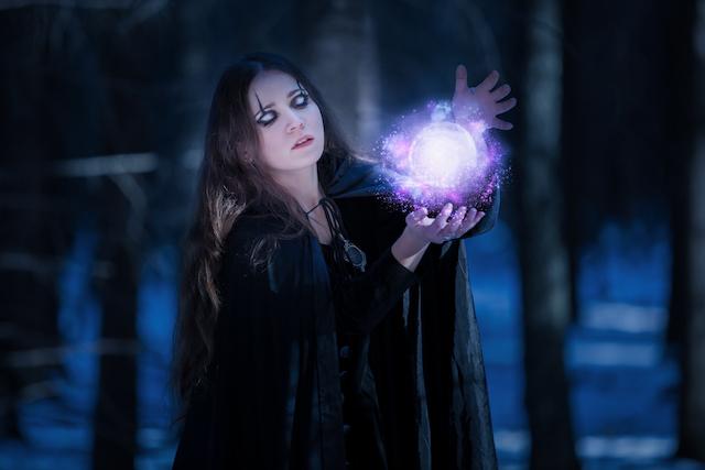 術Enchantress at the magic bullet in the enchanted forest