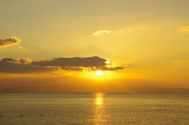 有明海の朝陽