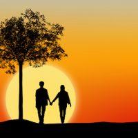 愛・Silhouette of couple