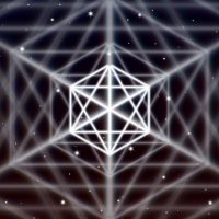 Magic hexagon symbol spreads the shiny mystic energy in spiritual space