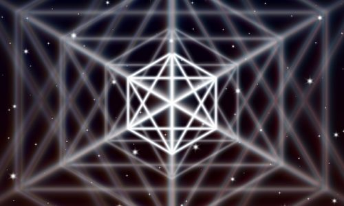 術・Magic hexagon symbol spreads the shiny mystic energy in spiritual space