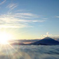 自然・富士山と日の出