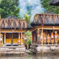 Hindu food offering in a Tampak Siring temple, Bali
