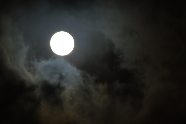 Moon in the rain cloud