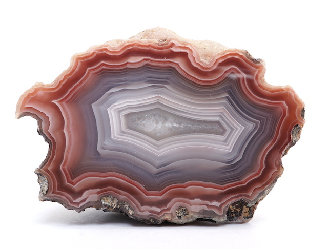 A polished Agate crystal specimen from Mexico