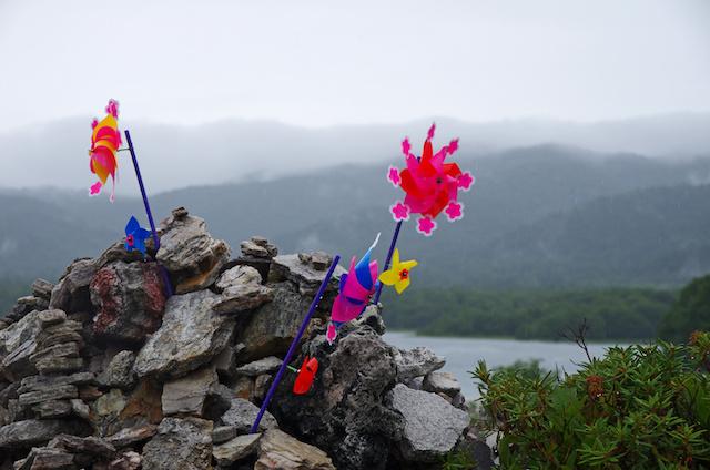 雨に煙る霊場恐山