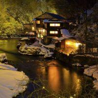 建・自然・冬の大沢温泉