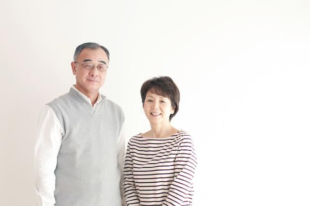 シニア夫婦のポートレート