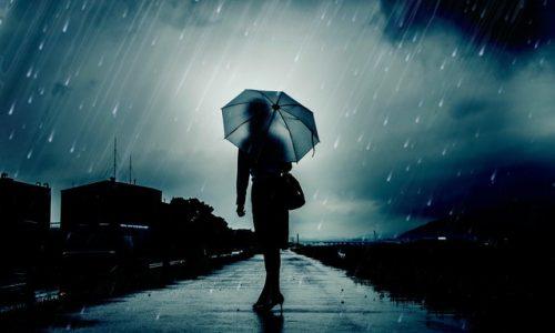 現象・雨、傘
