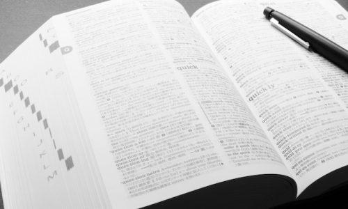 物・英語辞書