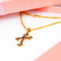 物・金・十字架、クロス ネックレス