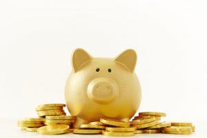 金色 豚の貯金箱