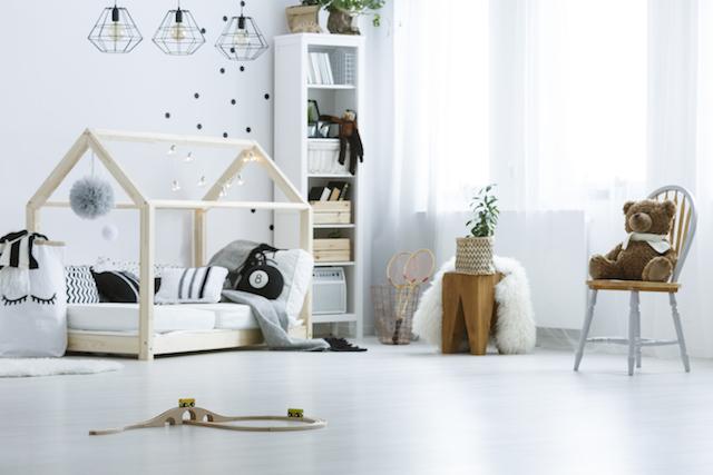 白を基調にした子供部屋