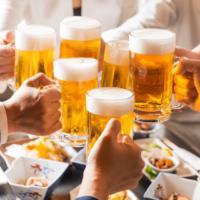 ビール酒乾杯