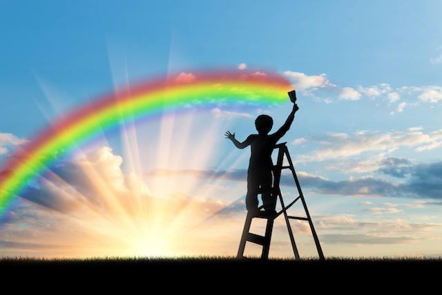 虹とこども