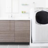 白い洗濯機